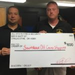 Donation to Crime Stoppers